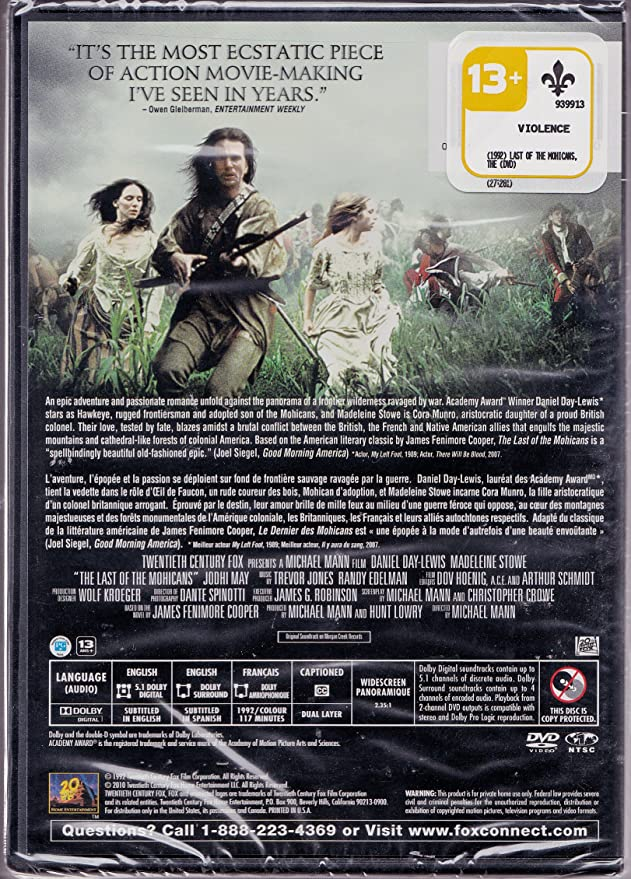 last of the mohicans imdb parents guide