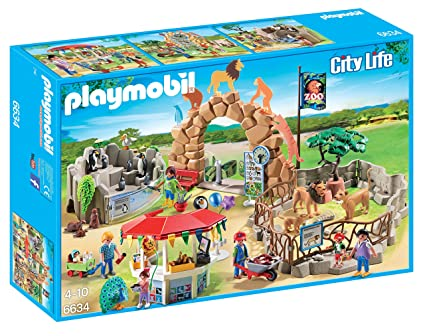 Amazon Com Playmobil Large City Zoo Toys Games