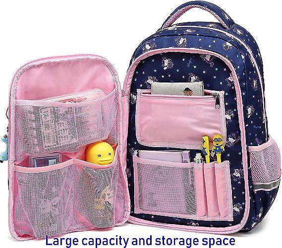 Zaino scuola bambini Impermeabile zaino per Ragazzi e Ragazze belle daypack per Sport e Viaggi blu navy Scuola Elementare Borsa per Adolescenti