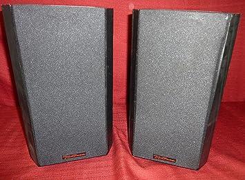 BIC America DV52si Black 2 Way Bookshelf Speakers Pair
