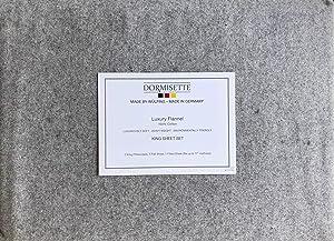 Dormisette Germany 4 Piece Cotton Flannel Sheet Set Solid Light Flannel Gray (King)