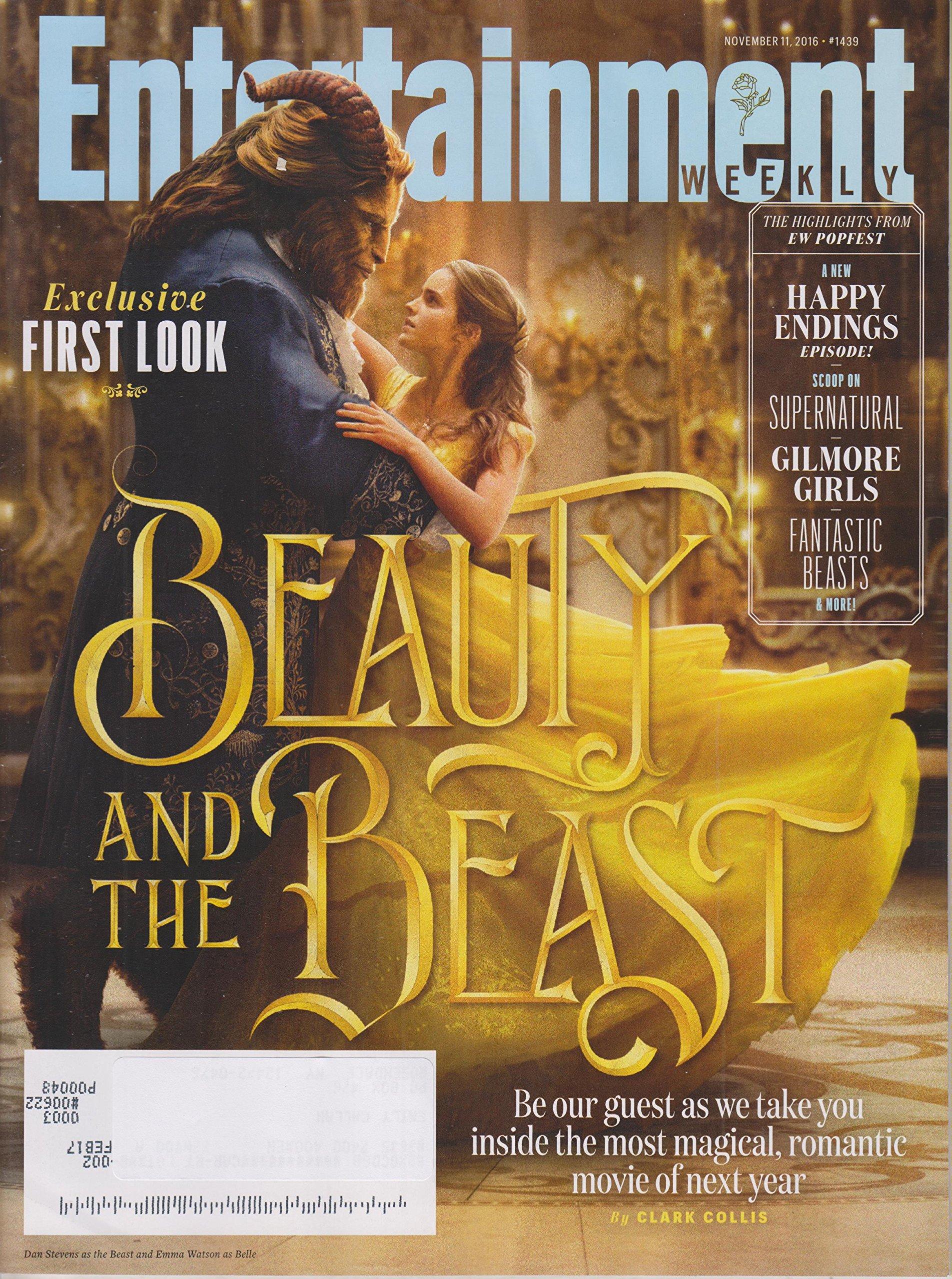 Entertainment Weekly November 11, 2016 Dan Stevens & Emma Watson Beauty & The Beast ebook