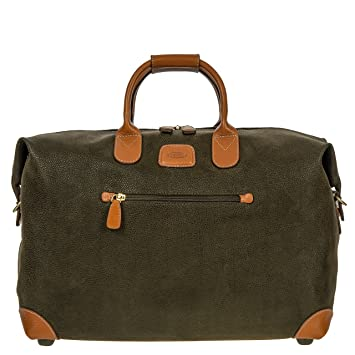 4ae5eb469bb9 Bric's Life 18 Inch Cargo Overnight Duffle Duffel Bag, Olive
