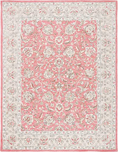 Safavieh GLM628U-8 Glamour Collection GLM628U Pink and Beige 8' x 10' Area Rug,