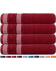 CASA COPENHAGEN Solitaire Cotton 17.70 oz/yd² Thick Bath Towels Set