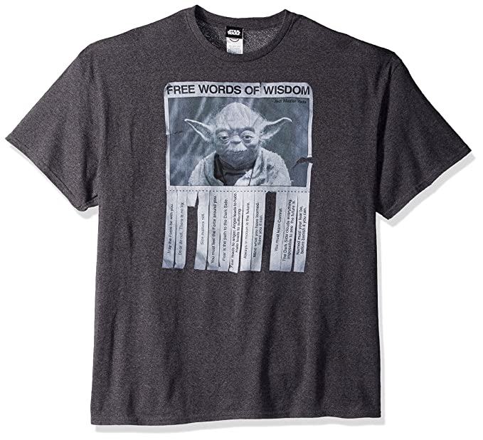 7842a5900ac Star Wars Men's Words Of Wisdom T-Shirt
