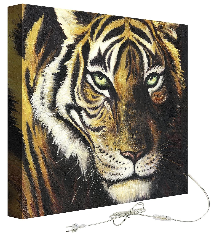 Decoralive Tigre-Quadro con retroilluminazione, 50 x 50 x 5 cm GustoHome GRE1044G050050