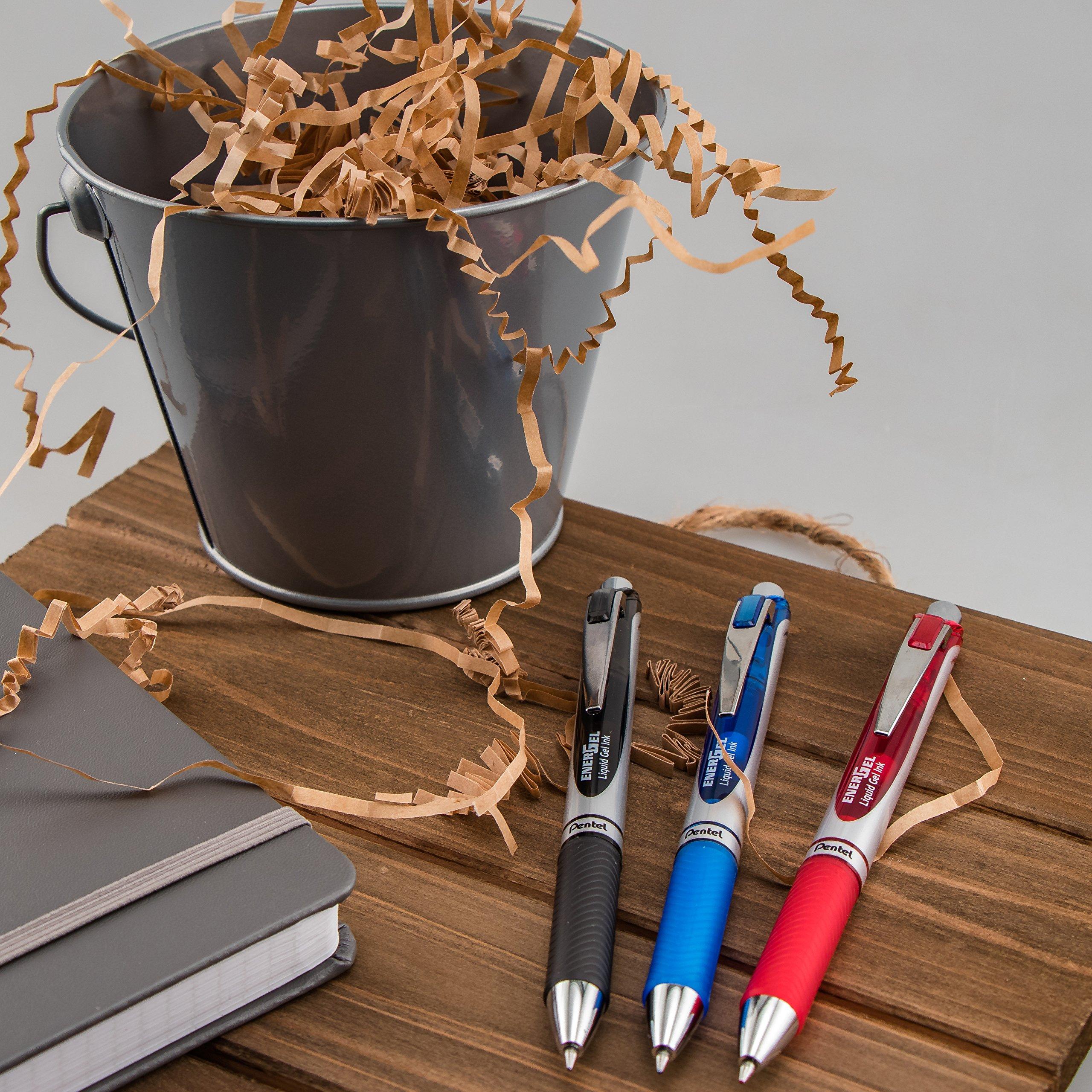 Pentel EnerGel RTX Retractable Liquid Gel Pen, 0.7mm Medium Line, Metal Tip, Black Ink, 12 Pack (BL77-A) by Pentel (Image #8)
