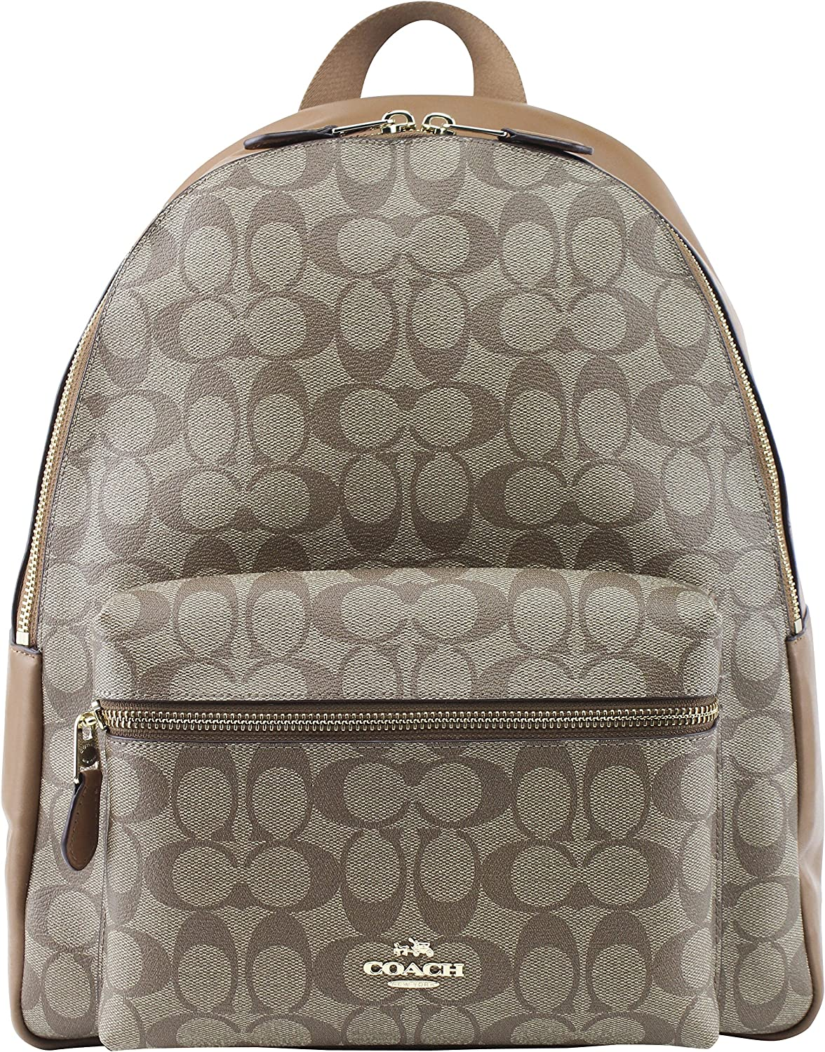 Coach Charlie Signature Pebble Leather Backpack