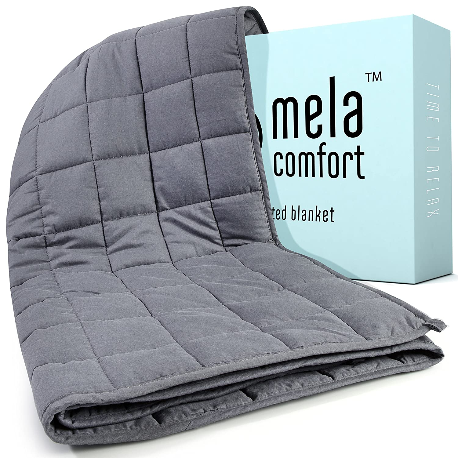 Amazon.com: Weighted Blanket - 15LBS - Adult Queen Size - Helps ...