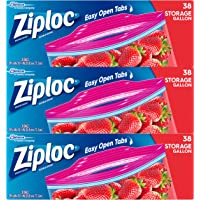 Ziploc Storage Bags, Gallon, 3 Pack, 38 ct