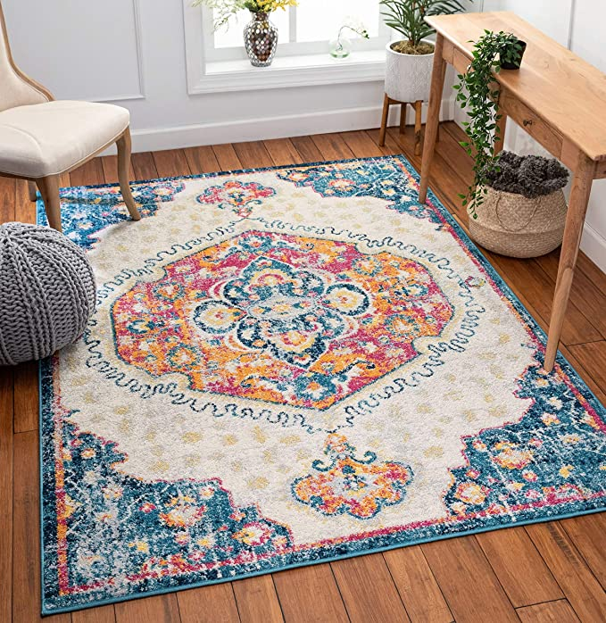 Amazon Com Well Woven Sydney Branna Vintage Distressed Bohemian Fuschia 5 3 X 7 3 Area Rug Furniture Decor