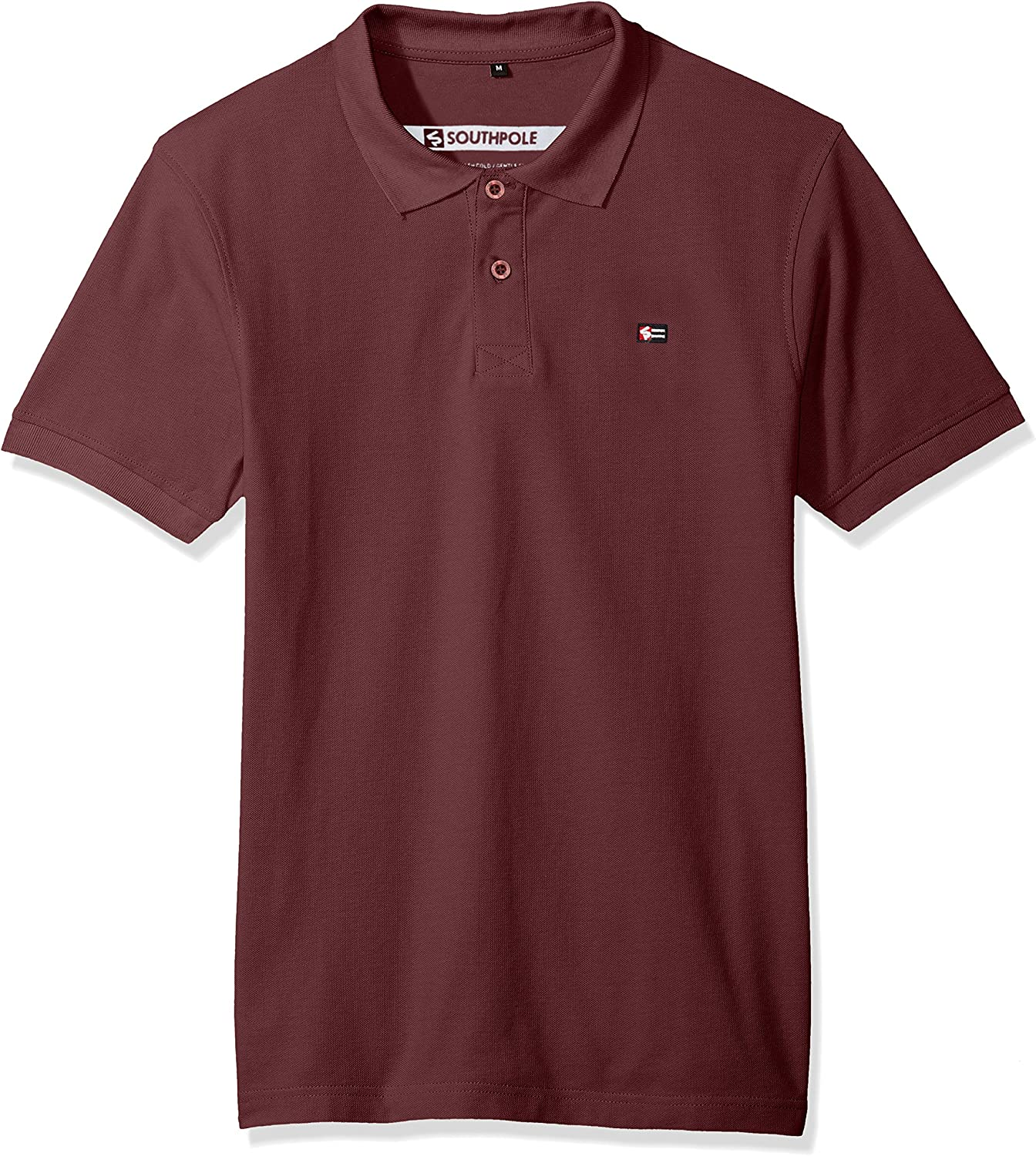 Southpole Mens Classic Short Sleeve Solid Polo Shirt