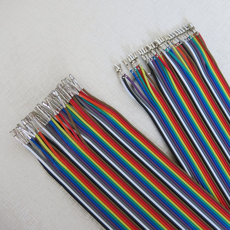40Stk 20cm Dupont Draht Kabel Linie Buchse auf Buchse Jumper Wire Arduino 2,54mm