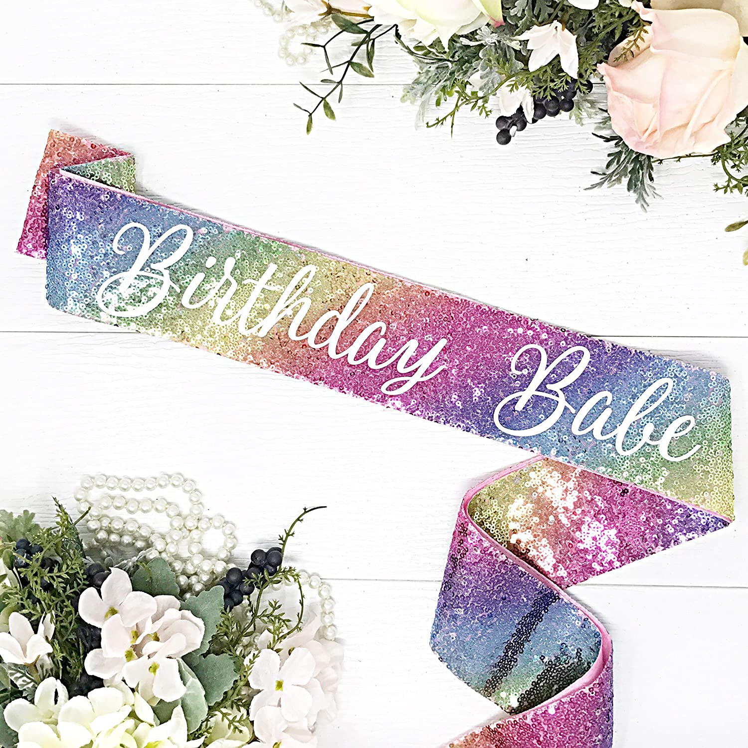 Sequin Birthday Sash - Birthday Babe