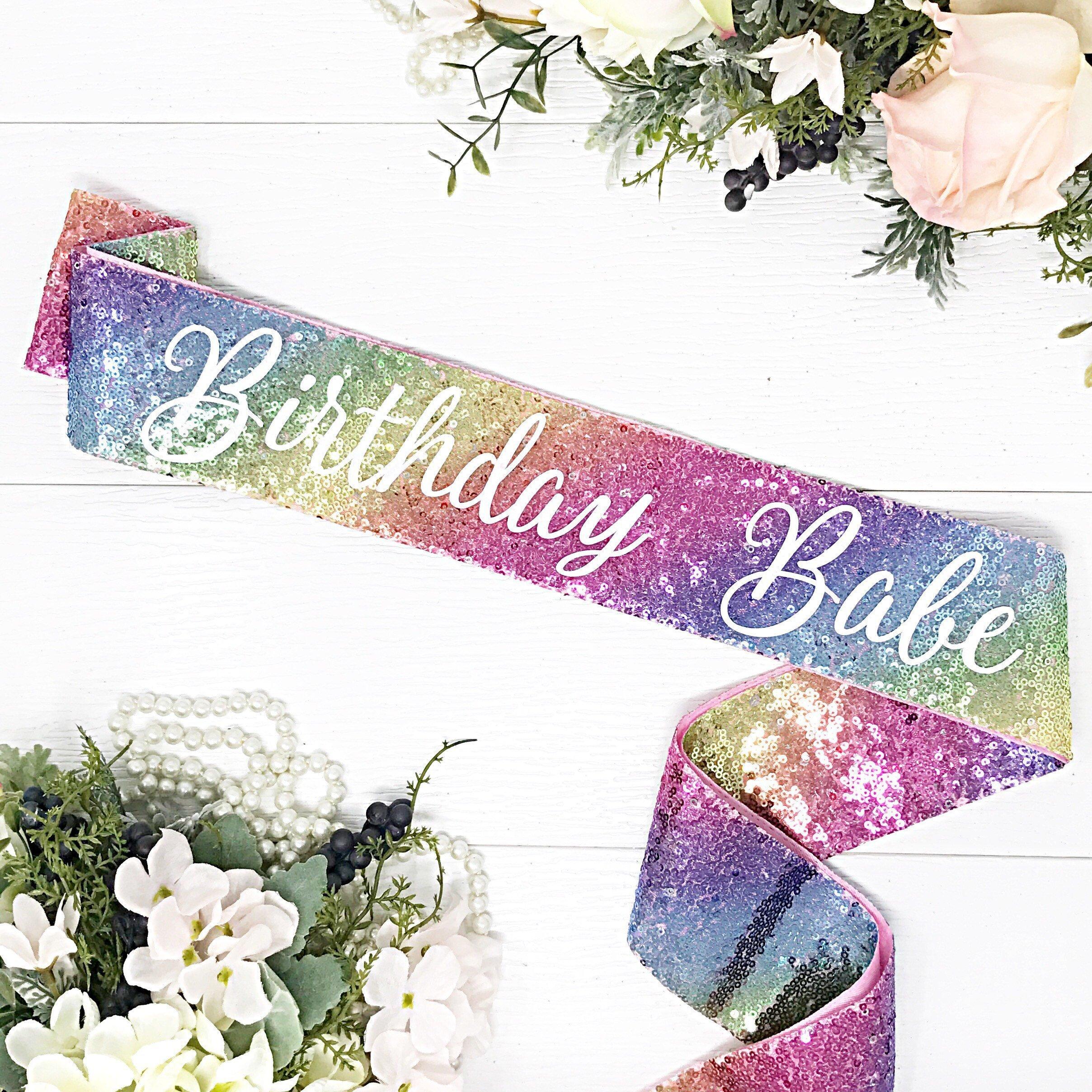 Sequin Birthday Sash - Birthday Babe