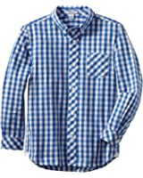 Kitestrings Big Boys's' Cotton Check Button Front Shirt