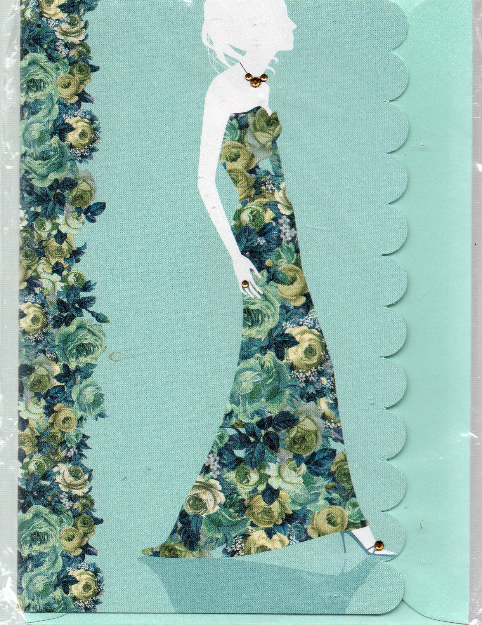 Read Online Blank Note Card & Envelope: Woman Model in Blue PDF
