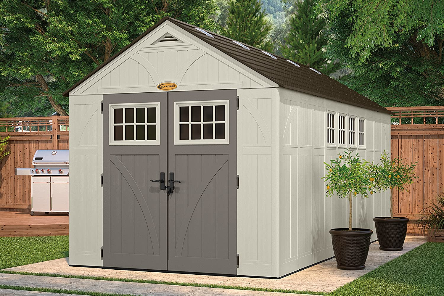 gable shed ft shop lowes outdoors vinyl x common covington resin at storage outdoor suncast com sheds pl