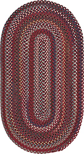 Capel Rugs Bunker Hill Braided Rug – Cardinal – 9 2 x 13 2 – Oval