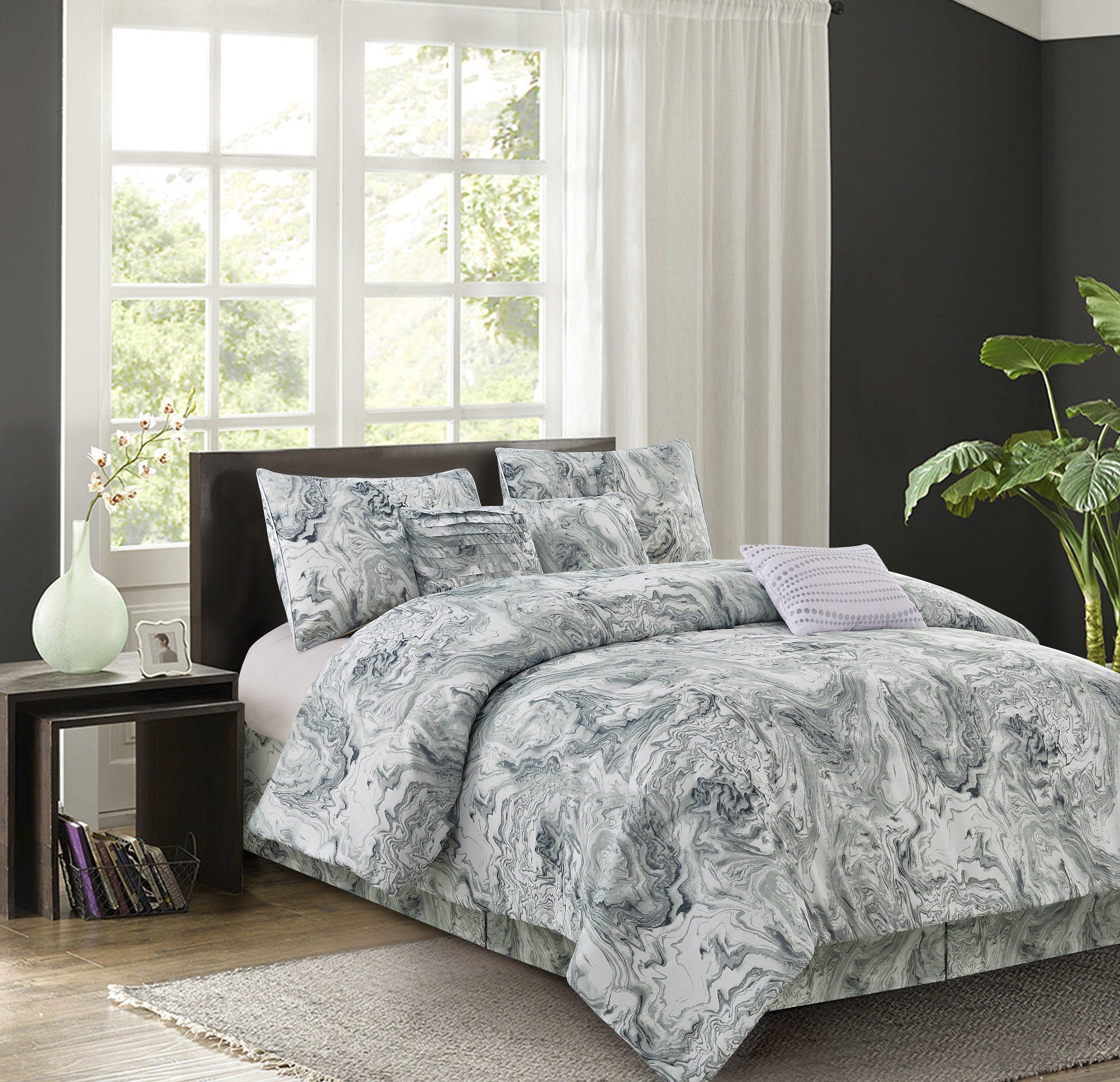 R2Zen Carrera Grey 7-Piece Comforter Set