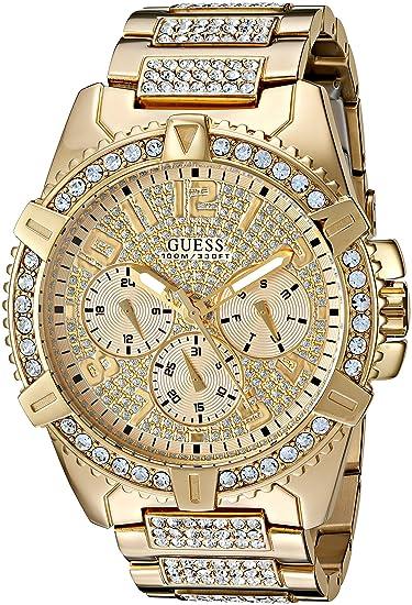 Guess Hombre u0799g2 Dazzling Tono Dorado Reloj con multifunción Dial: Amazon.es: Relojes