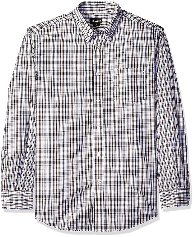 Haggar Mens Standard Long Sleeve Multi Plaid Shirt HMW8F891-R01