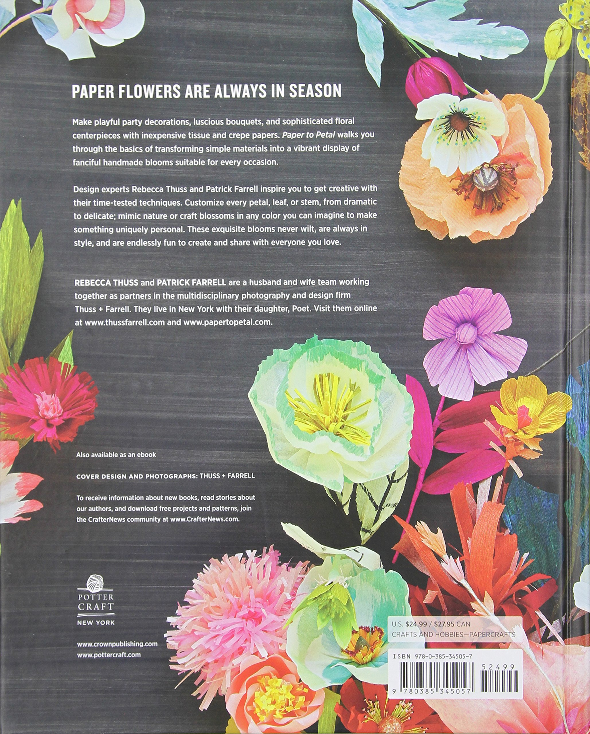 Paper to petal 75 whimsical paper flowers to craft by hand paper to petal 75 whimsical paper flowers to craft by hand rebecca thuss patrick farrell martha stewart 9780385345057 amazon books jeuxipadfo Choice Image