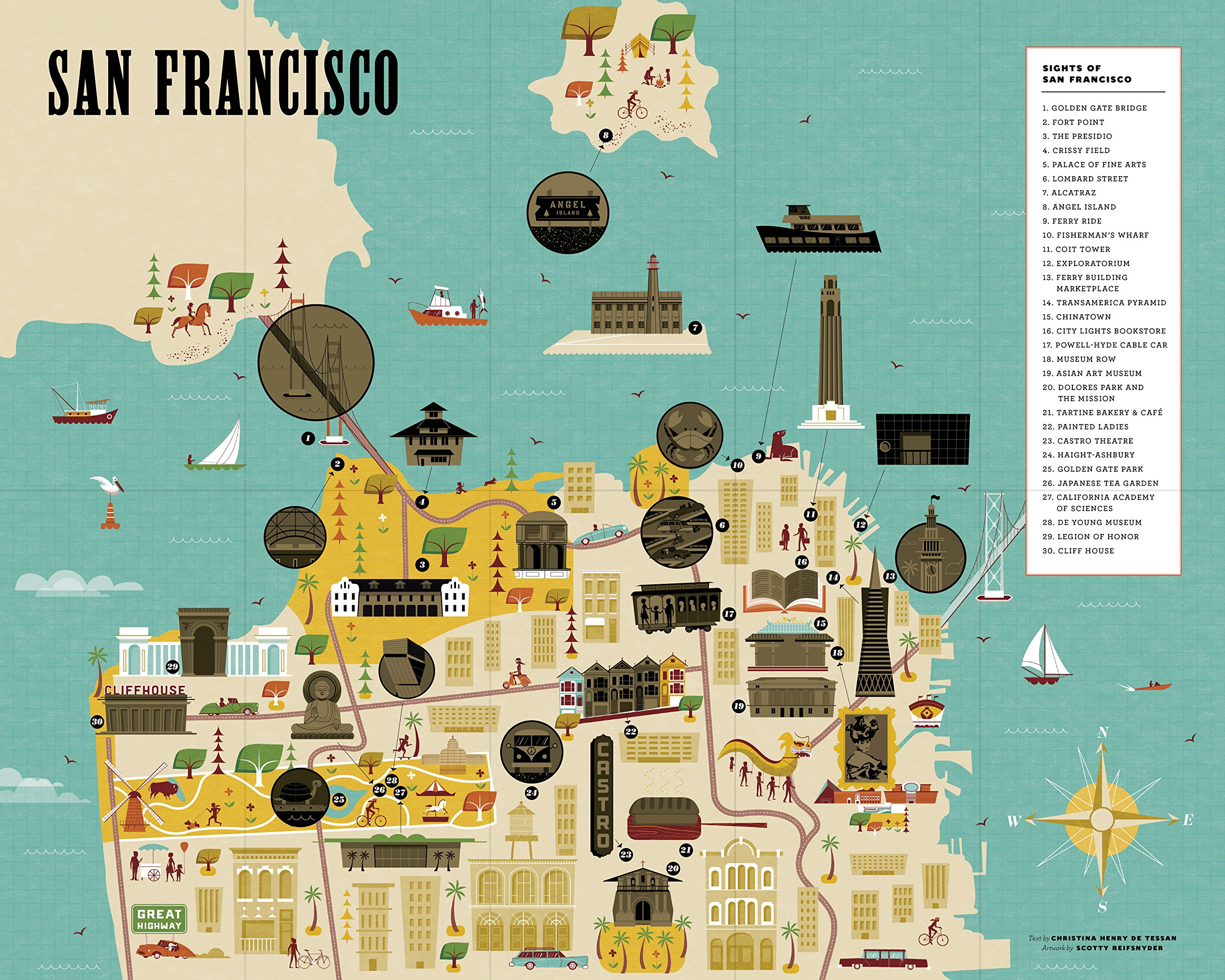 City ScratchOff Map San Francisco A Sightseeing Scavenger Hunt