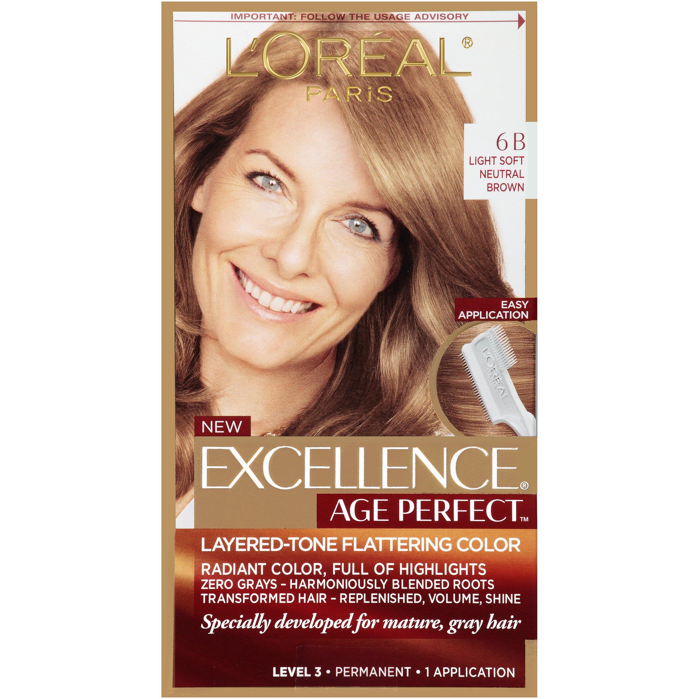 Amazon.com : LOréal Paris Age Perfect Permanent Hair Color, 6.5G Lightest Soft Golden Brown