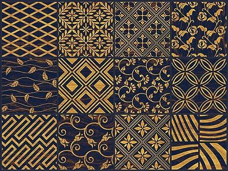 L Autocollant Nisha 24 Pc Wall Tile Stickers Peel And Stick Dosseret Carrelage Vinyle Decalques Art Cuisine Salle De Bains Eclectique Decals 10x10 Cm Art Deco Amazon Fr Bricolage