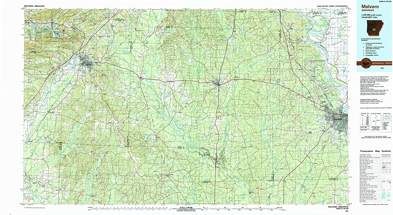 Amazon Com Yellowmaps Malvern Ar Topo Map 1 100000 Scale 30 X 60
