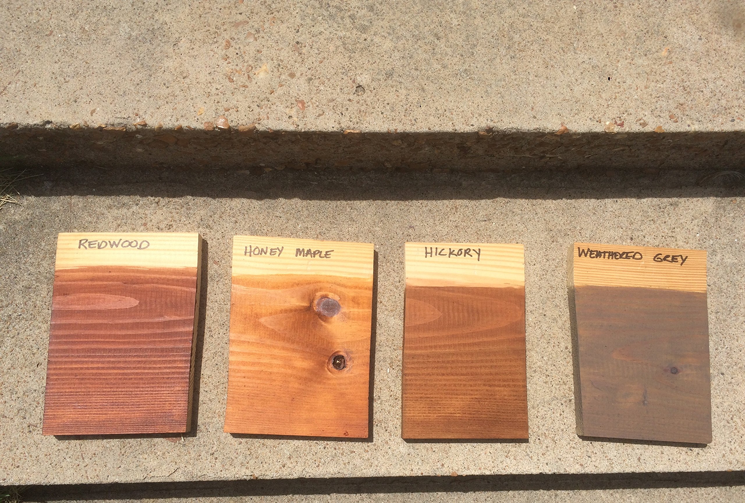 Sierra Brown Wet Wood Stain Semi-Transparent Deep Penetrating Tung/Linseed Oil Resists Cracking, Same Day Wash/Apply, Fast Dry 4 hr Recoat, Nano Technology for Excellent UV Protection, Resists Mold/Mildew for Decks, Fences, Siding, Log Homes - 5 Gal by Davlauar Coatings