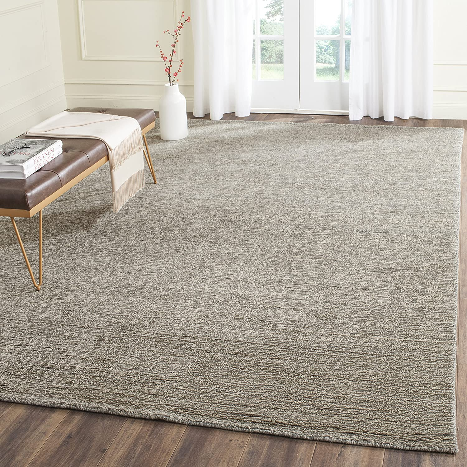 amazoncom safavieh himalaya collection him311d handmade grey premium wool area rug 6u0027 x 9u0027 kitchen u0026 dining - Safavieh Rug