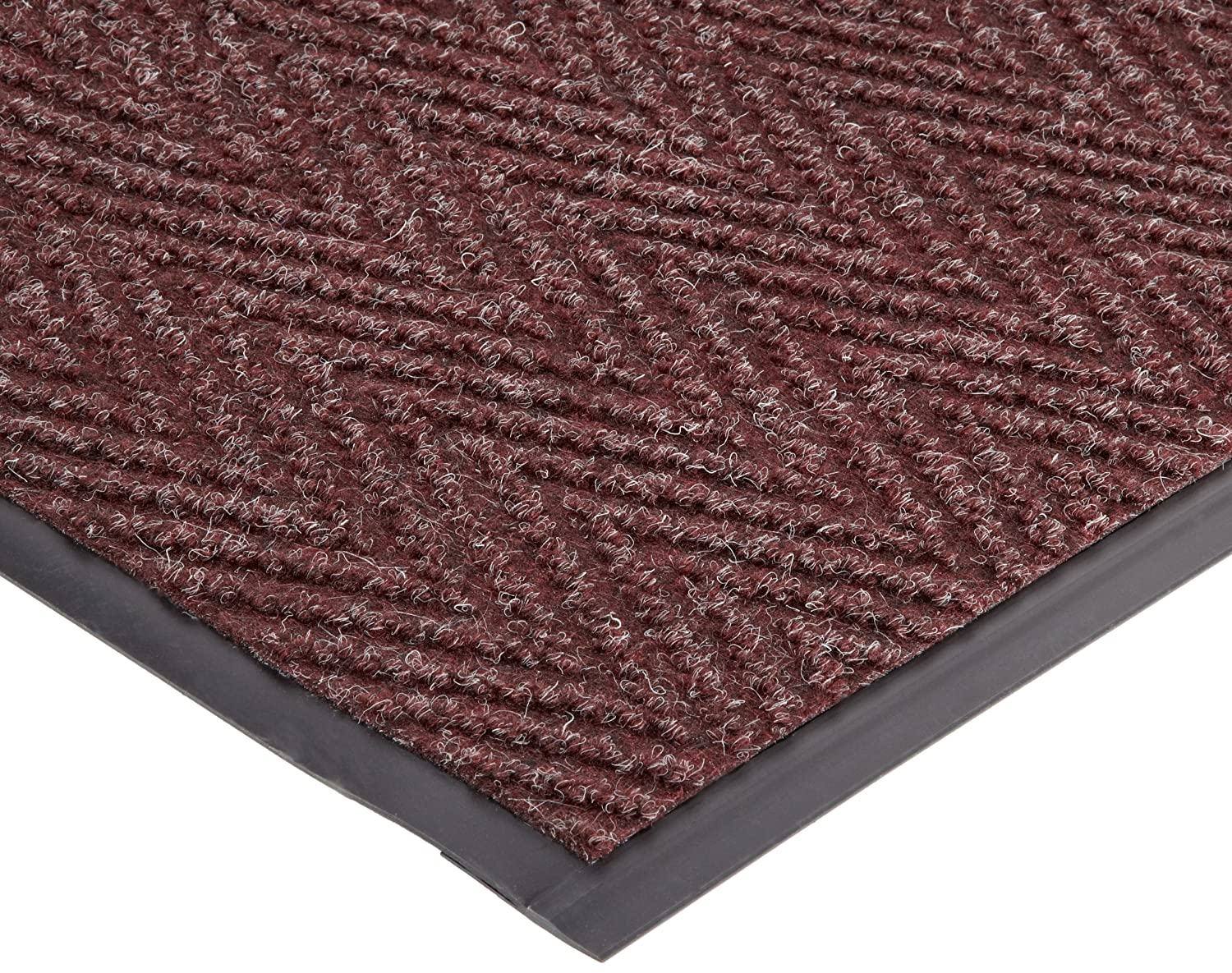 Durable Vinyl Chevron Rib Indoor Entrance Mat, 4' x 8', Charcoal 4' x 8' Durable Corporation 614S48CH