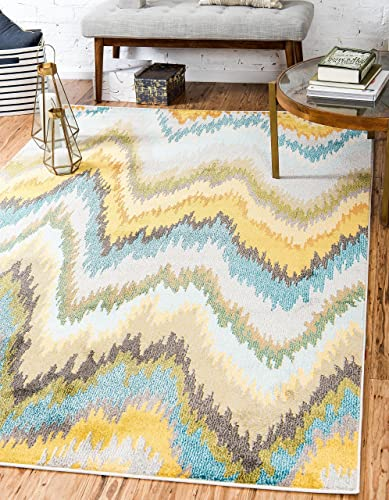 Unique Loom Estrella Collection Colorful Abstract Multi Area Rug 9 0 x 12 0