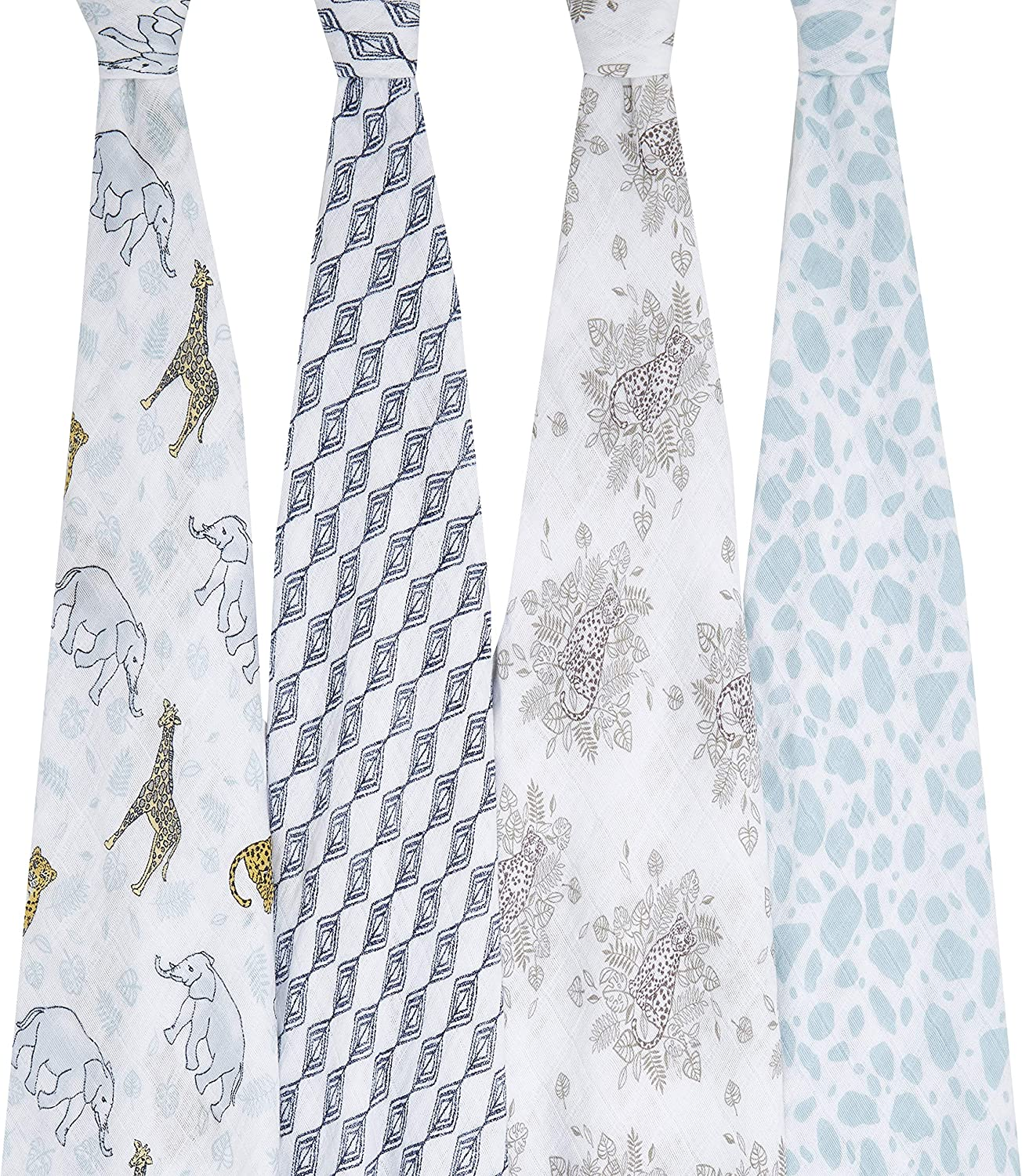 ASWC20002 anais Classic swaddles 100/% Muslin Cotton aden Gone Fishing 2-Pack