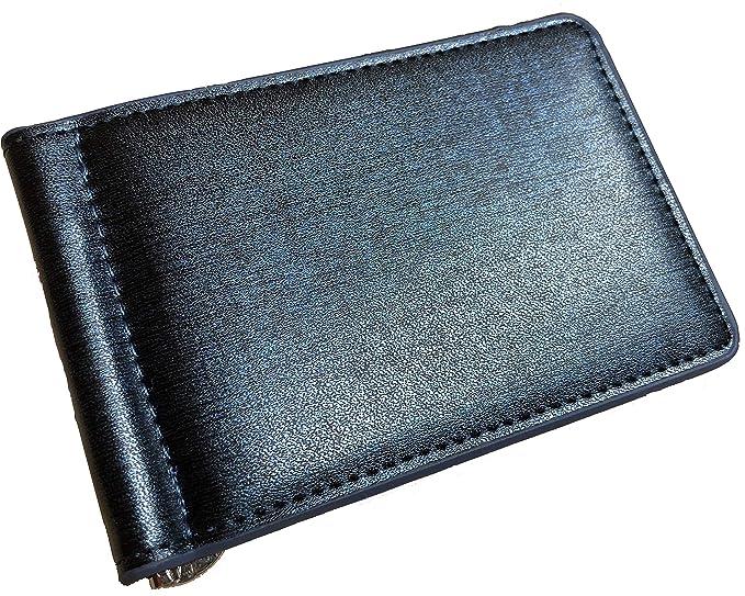 Amazon.com: Lujosa cartera minimalista de piel para hombre ...