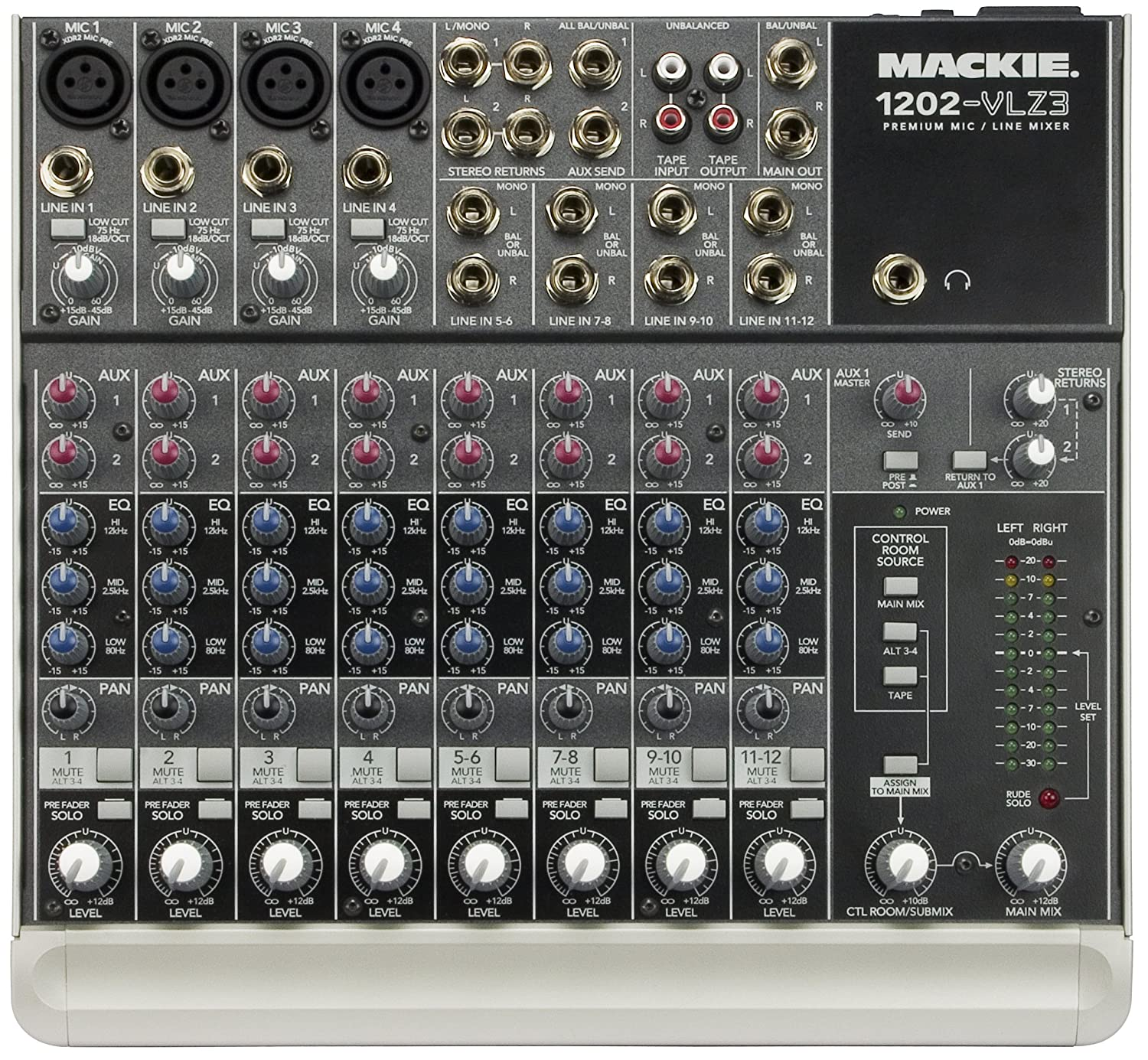 Line Mixer Electronics Circuits For You Mackie 1202 Vlz3 12 Channel Compact Recording Sr Musical Instruments