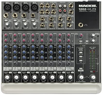 amazon com mackie 1202 vlz3 12 channel compact recording sr mixer