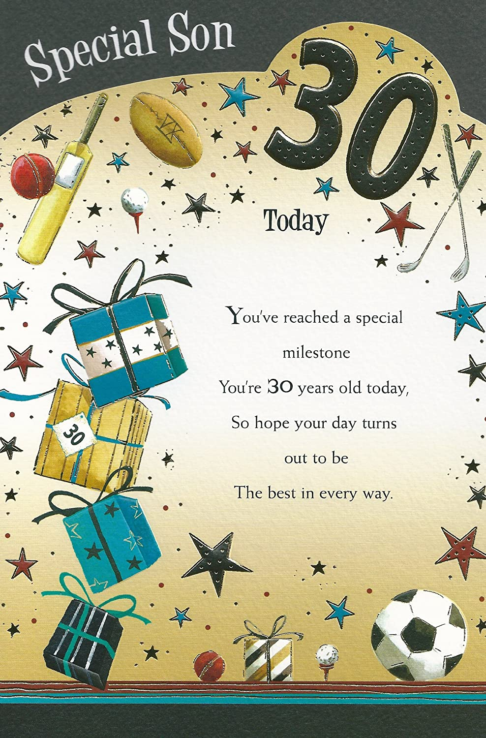 Special Son 30th Happy Birthday card Amazoncouk Kitchen Home – Happy Birthday Card Son