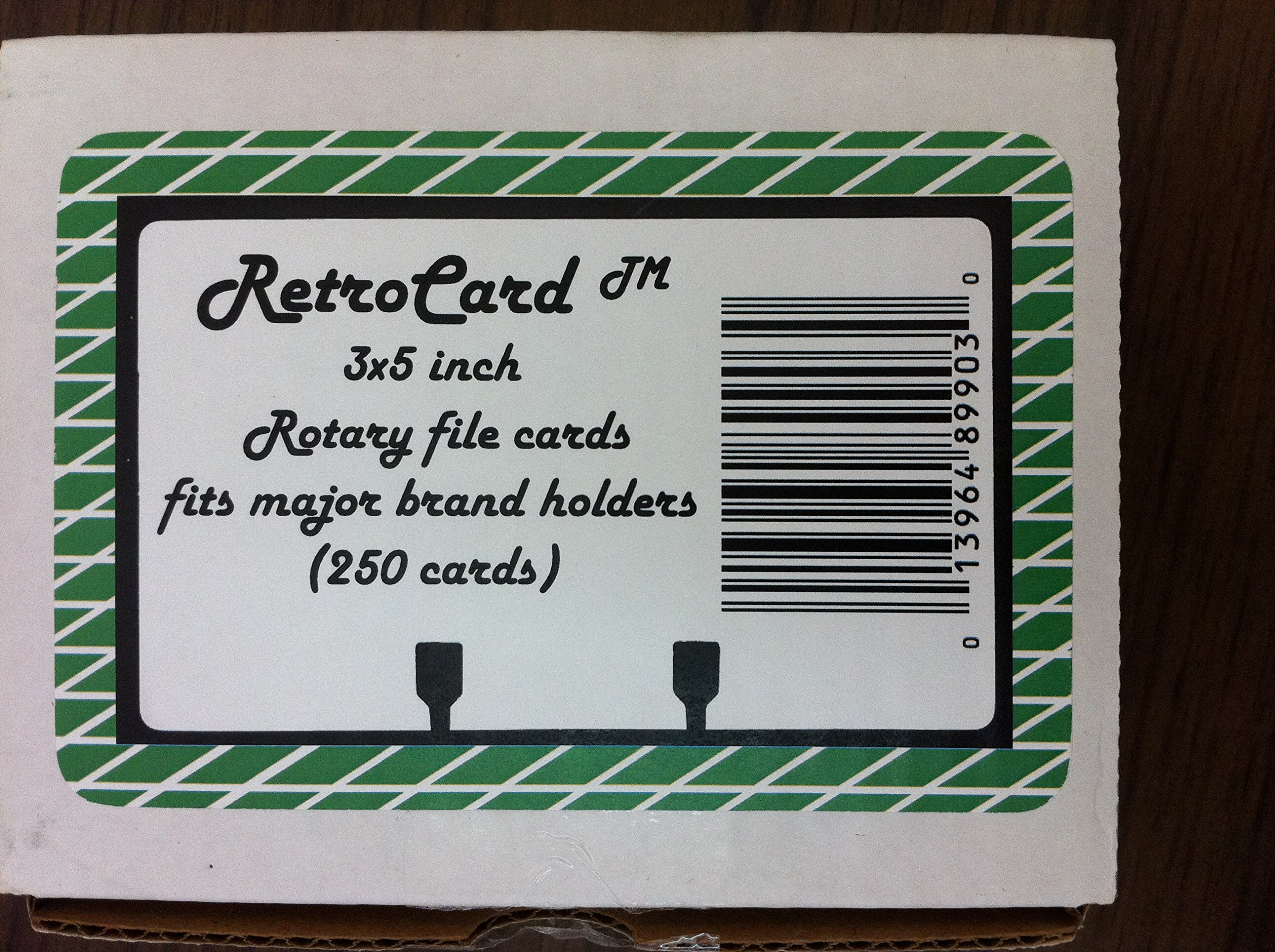 Retrocard™ 3x5 Rotary File Refill Cards (250)