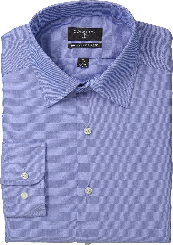 Dockers Camisa de vestir para hombre, sin planchar, ajuste ...
