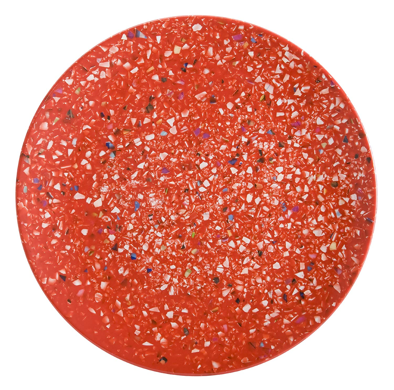 Zak Designs Confetti Melamine Salad Plates, 9-Inch, Red, Set of 6 0078-0848-ISET