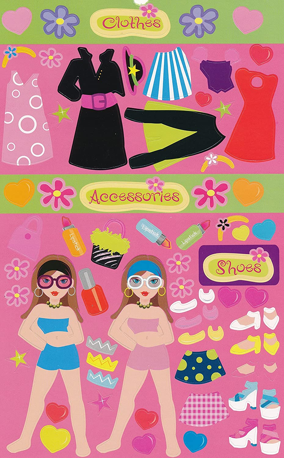 Fashion Diva Dress Up and Shopping Sticker Books for Kids 3 Books over 1000 stickers RHM Stickers SG/_B07CTC98QZ/_US