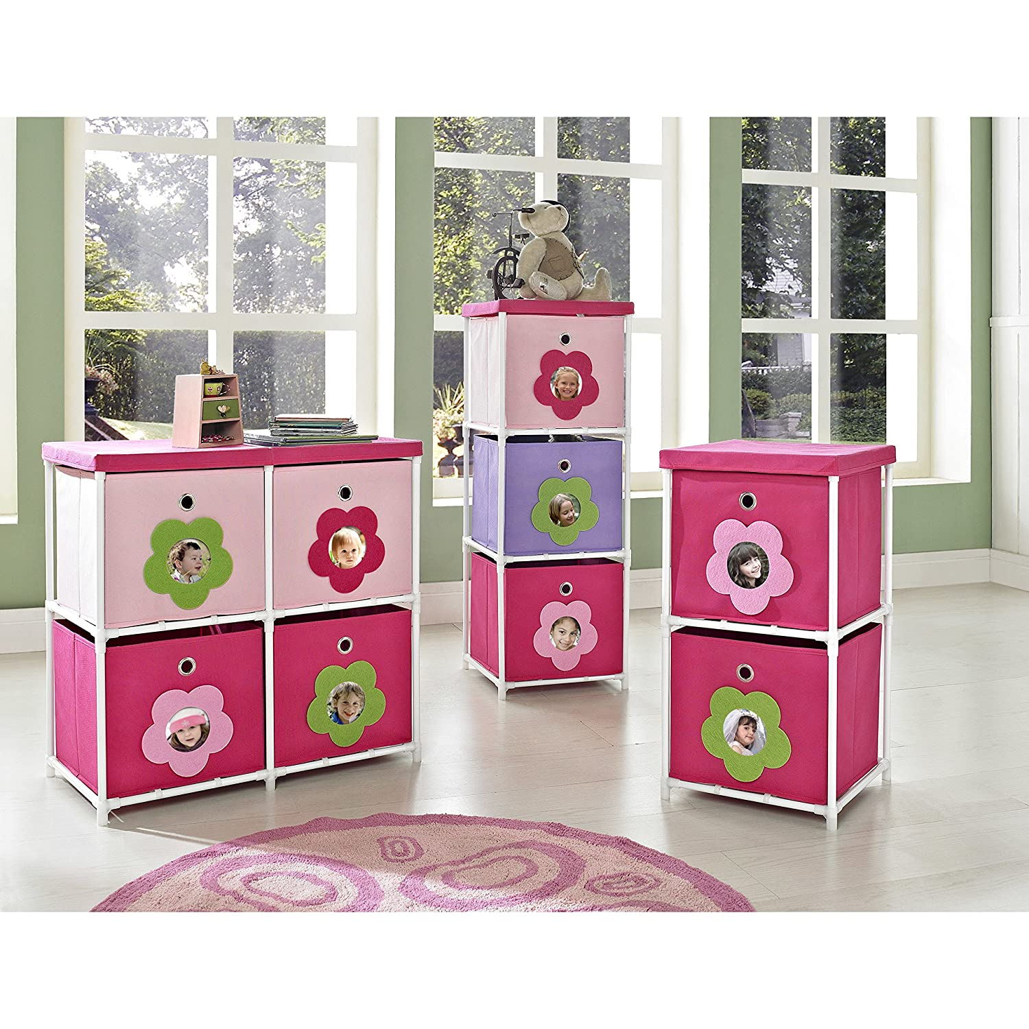 Amazon.com: Kidsu0027 4 Cube Toy Organizer, Toy Storage Bin: Kitchen U0026 Dining Design Inspirations