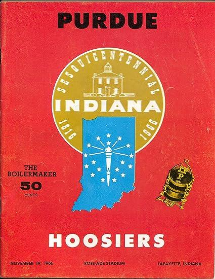 Purdue vs Indiana NCAA Football Game Program 11/19/1966