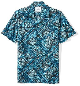 1838a57b Amazon.com: Amazon Brand - 28 Palms Men's Standard-Fit 100% Cotton Tropical  Hawaiian Batik Shirt: Clothing