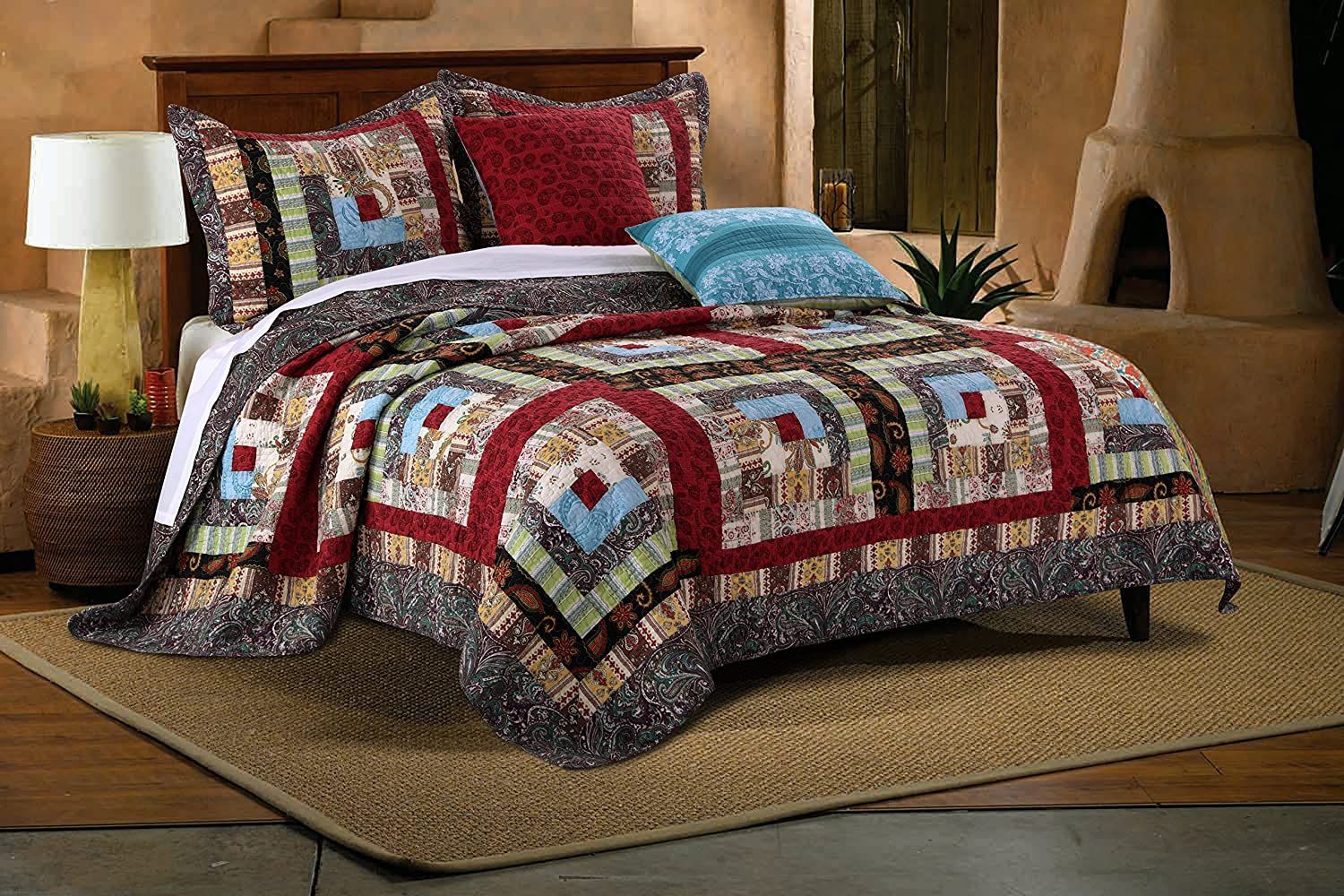 Greenland Home Colorado Lodge Quilt Set, 5-Piece King/Cal King, Multi