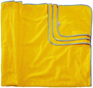 Sowel Toalla de Playa XXL Grande para Familia y Parejas, 100% Algodón, 200 x 160 cm (Amarillo/Azul): Amazon.es: Hogar